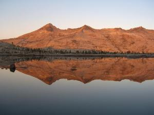 Crystal Mountains reflecting in Lake Aloha at Sunrise