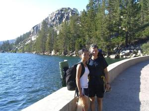 Serena and me at the start of the hike at Echo Lake