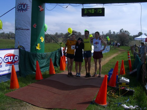 L to R: me, race director Julie Fingar, 3rd place Benjamin Berkowitz, 2nd place Dan Olmstead