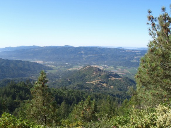 View to Calistoga and upper Napa Valley